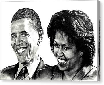 The Obama's Canvas Print by Todd Spaur