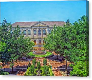 The Old Main - University Of Arkansas Canvas Print by Mountain Dreams