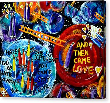 Then Came Love Canvas Print by Jackie Carpenter