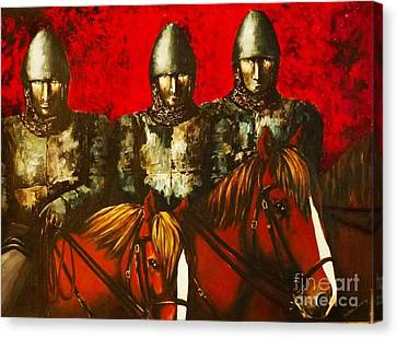 Three Knights Canvas Print by Kaye Miller-Dewing