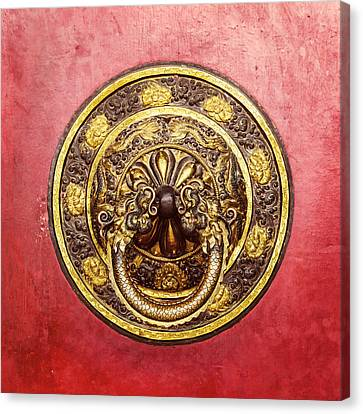 Tibetan Door Knocker Canvas Print by Dutourdumonde Photography
