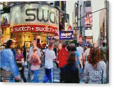 Times Square Canvas Print by George Atsametakis