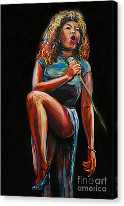 Tina Turner Canvas Print by Nancy Bradley