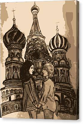 To Russia With Love Canvas Print by Jasmine Wolfe