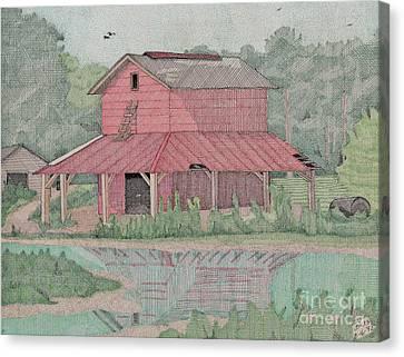 Tobacco Barn Canvas Print by Calvert Koerber