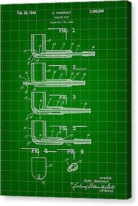 Tobacco Pipe Patent 1944 - Green Canvas Print by Stephen Younts