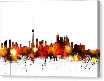 Toronto Canada Skyline Canvas Print by Michael Tompsett