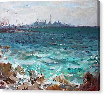 Toronto Skyline Canvas Print by Ylli Haruni