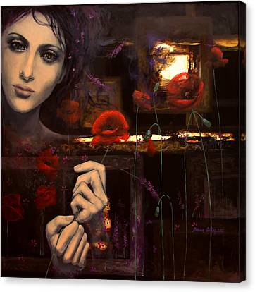 Touching The Ephemeral Canvas Print by Dorina  Costras