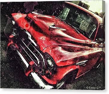 Trucker Red Canvas Print by Eddie G