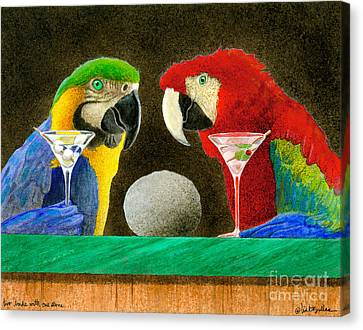 Two Birds With One Stone... Canvas Print by Will Bullas