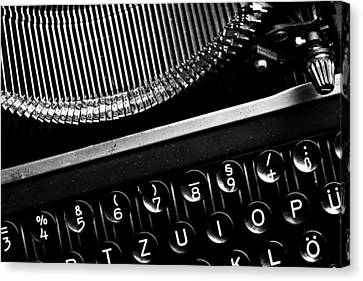 Typewriter Canvas Print by Falko Follert