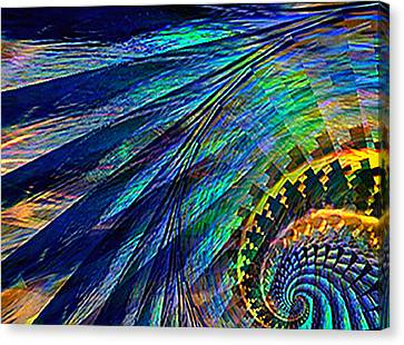 Under The Wing Canvas Print by Rebecca Phillips