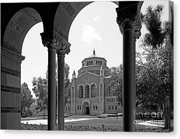 University Of California Los Angeles Powell Library Canvas Print by University Icons