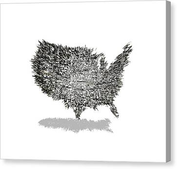 Us Text Word Cloud Canvas Print by Brian Reaves
