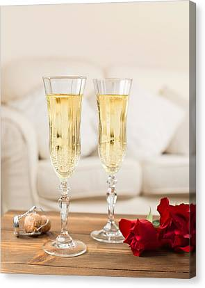 Valentine's Day Champagne Canvas Print by Amanda And Christopher Elwell