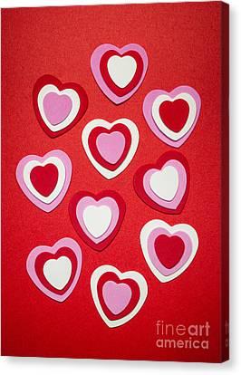 Valentines Day Hearts Canvas Print by Elena Elisseeva