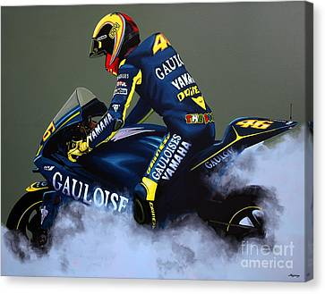 Valentino Rossi Canvas Print by Paul Meijering