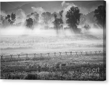 Valley Mists Canvas Print by Idaho Scenic Images Linda Lantzy