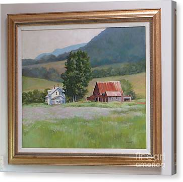 Vermont  Summer Farm Canvas Print by Karol Wyckoff