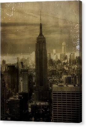 Vintage New York City Canvas Print by Dan Sproul