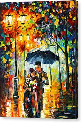 Warm Night Canvas Print by Leonid Afremov