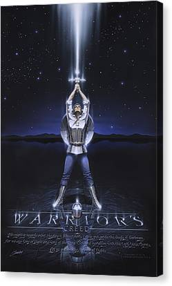 Warriors Creed Canvas Print by Cliff Hawley