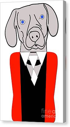 Weimaraner Painting Canvas Print by Marvin Blaine