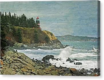 West Quoddy Head Lighthouse Canvas Print by Cindi Ressler