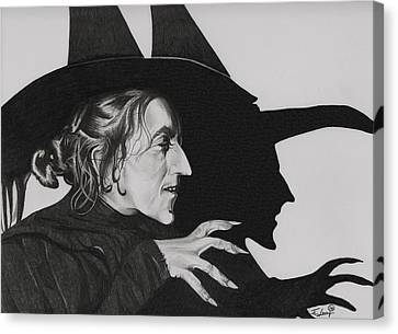 Wicked Witch Of The West Canvas Print by Fred Larucci