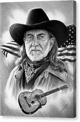 Willie Nelson American Legend Canvas Print by Andrew Read