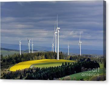 Wind Turbines Canvas Print by Bernard Jaubert