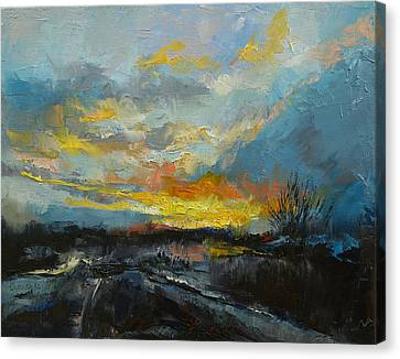 Winter Evening Canvas Print by Michael Creese
