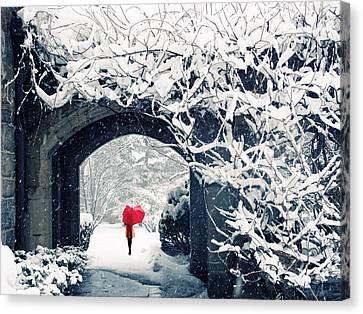 Winter's Lace Canvas Print by Jessica Jenney