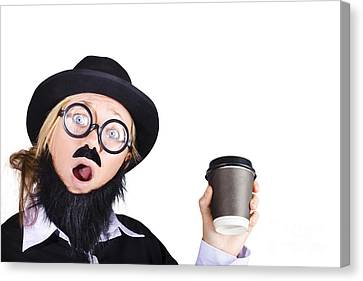 Woman With Cup Of Coffee Canvas Print by Jorgo Photography - Wall Art Gallery