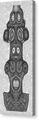 Woodcraft Ghosts Spirits Indian Native Aboriginal Masks Motif Symbol Emblem Ethnic Rituals Display H Canvas Print by Navin Joshi