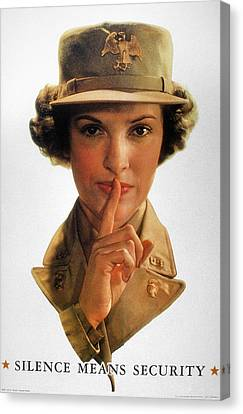 Wwii: Careless Talk Poster Canvas Print by Granger
