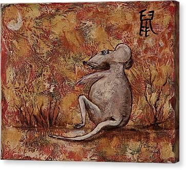 Year Of The Rat Canvas Print by Darice Machel McGuire
