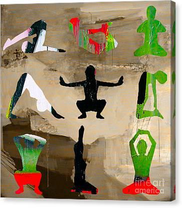 Yoga Poses Canvas Print by Marvin Blaine