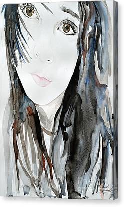Young Girl Canvas Print by Ismeta Gruenwald