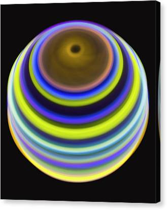 Multicoloured Light Trails Canvas Print by Lawrence Lawry