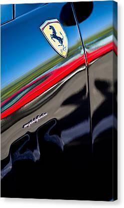 2000 Ferrari 550 Marennel Emblem Canvas Print by Jill Reger