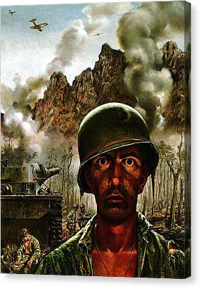 2000 Yard Stare Canvas Print by Mountain Dreams