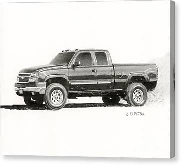 2006 Chevy Silverado 2500 Hd Canvas Print by Sarah Batalka
