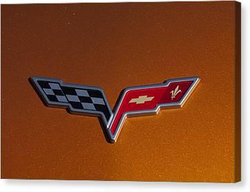 2007 Chevrolet Corvette Indy Pace Car Emblem Canvas Print by Jill Reger