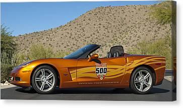 2007 Chevrolet Corvette Indy Pace Car Canvas Print by Jill Reger