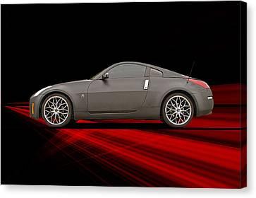 2008 Nissan Z350 'drifter' II Canvas Print by Dave Koontz