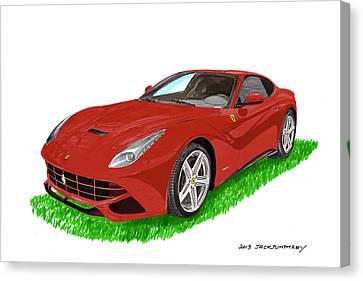 2012 F12 Ferrari Berlinetta Gt Canvas Print by Jack Pumphrey