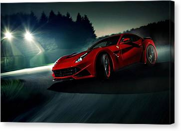 2014 Novitec Rosso Ferrari F12 Berlinetta N Largo Canvas Print by Movie Poster Prints