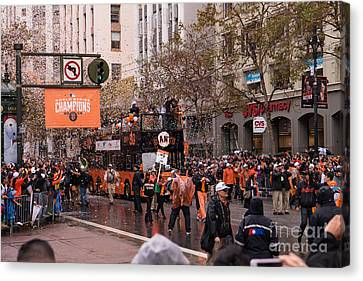 2014 World Series Champions San Francisco Giants Dynasty Parade Dsc1955 Canvas Print by Wingsdomain Art and Photography